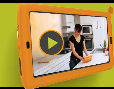 cuisinix tablette tactile pour la cuisine au quotidien. Black Bedroom Furniture Sets. Home Design Ideas